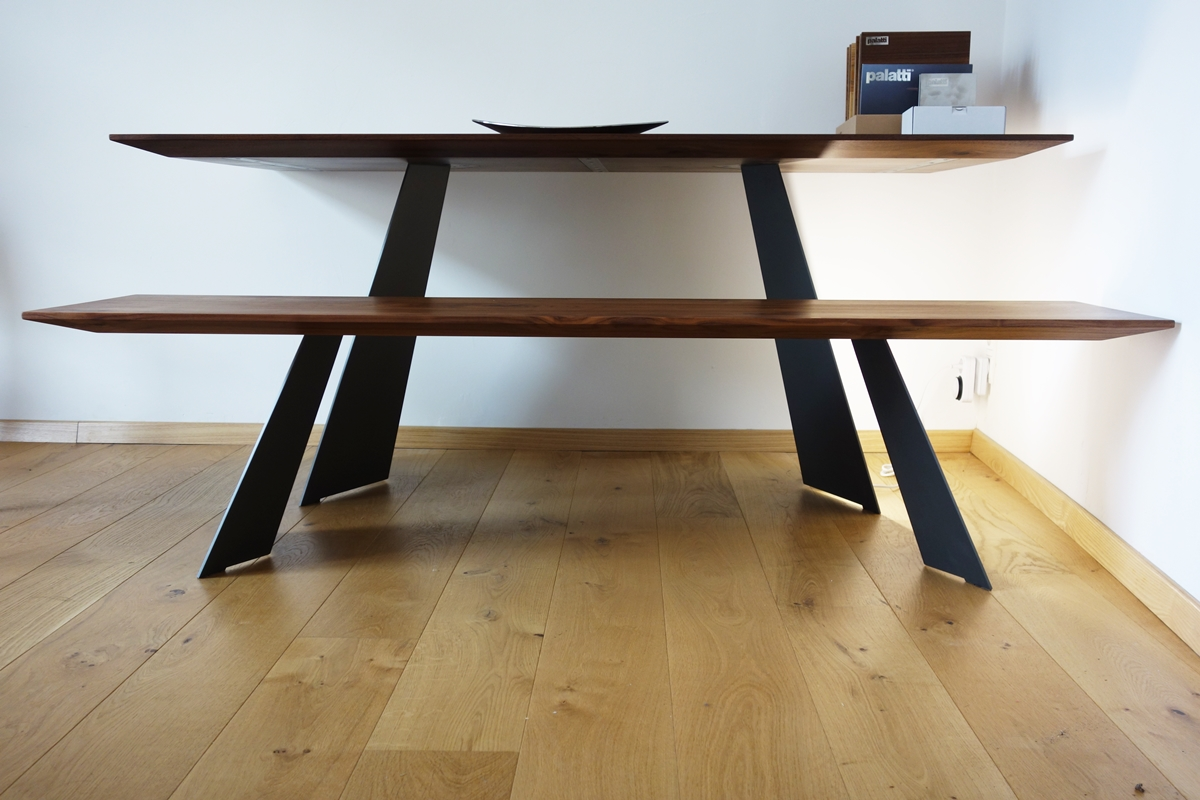 Esstisch Proportionen ~ Massivholz Edelstahl Design  Esstisch Schreibtisch  MassivholzDesign