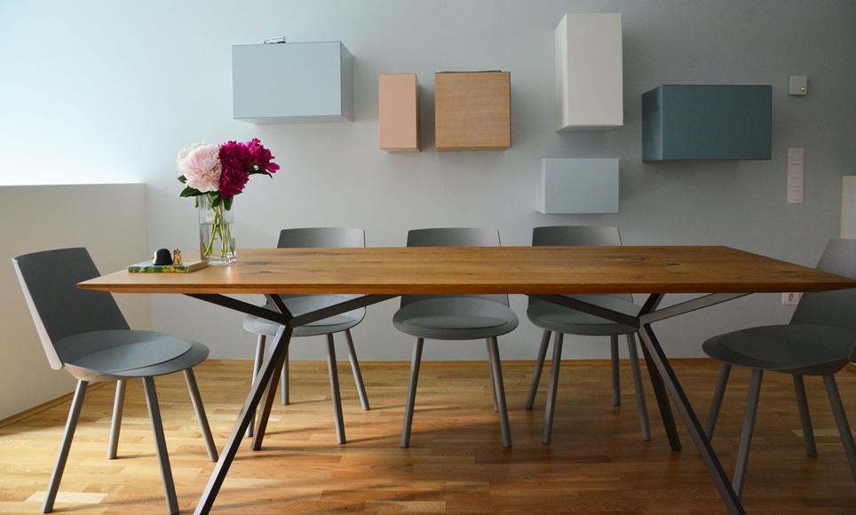 Elegantes design massivholz esstisch massivholz design for Holztisch eiche