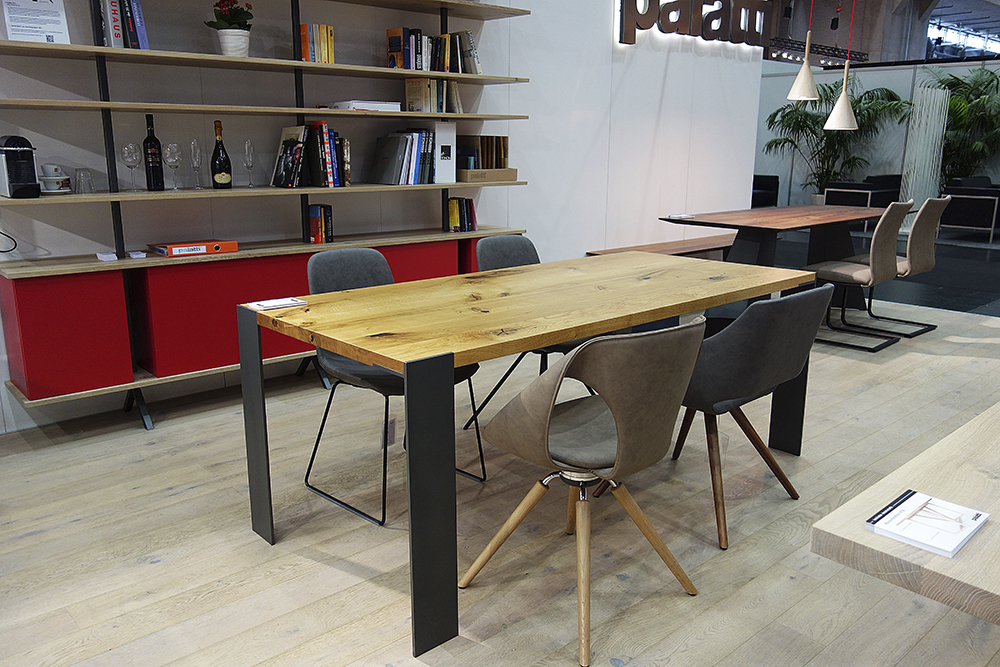 Esstisch Proportionen ~ Esstisch oder Schreibtisch  Klassisch Massiv mit Stahlbeinen lackiert  Mass