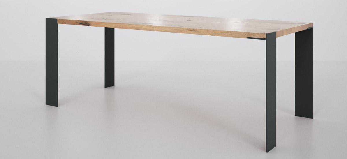 Esstisch oder schreibtisch klassisch massiv mit for Design tisch massivholz