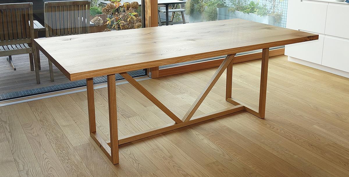 Fachwerk Design Esstisch Schreibtisch Massivholz Design